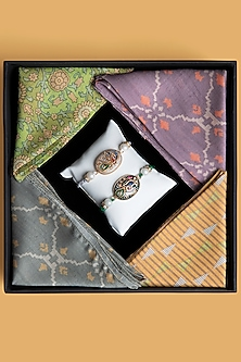 Pocket Squares & Rakhi Hamper Combo by SONNET