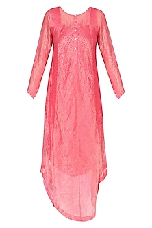 Coral Stripes Play Asymmetric Kurta
