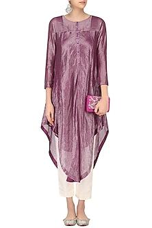 Pink Stripes Play Asymmetric Kurta by Sloh Designs