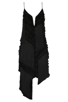 Black Fringed Dress by SHIVAN & NARRESH