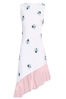 Separmint Bettle Motifs Asymmetric Ruched Midi Dress