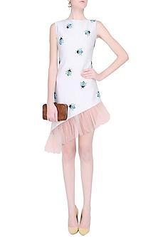 Separmint Bettle Motifs Asymmetric Ruched Midi Dress by Shainah Dinani