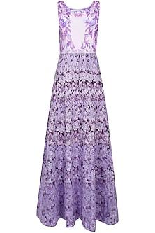 Mauve floral long gown