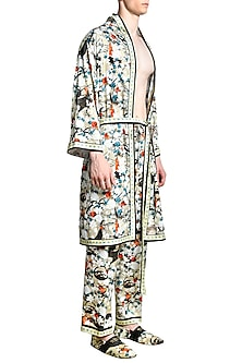 Multi Colored Printed Pyjama Pants by Shivan & Narresh Men