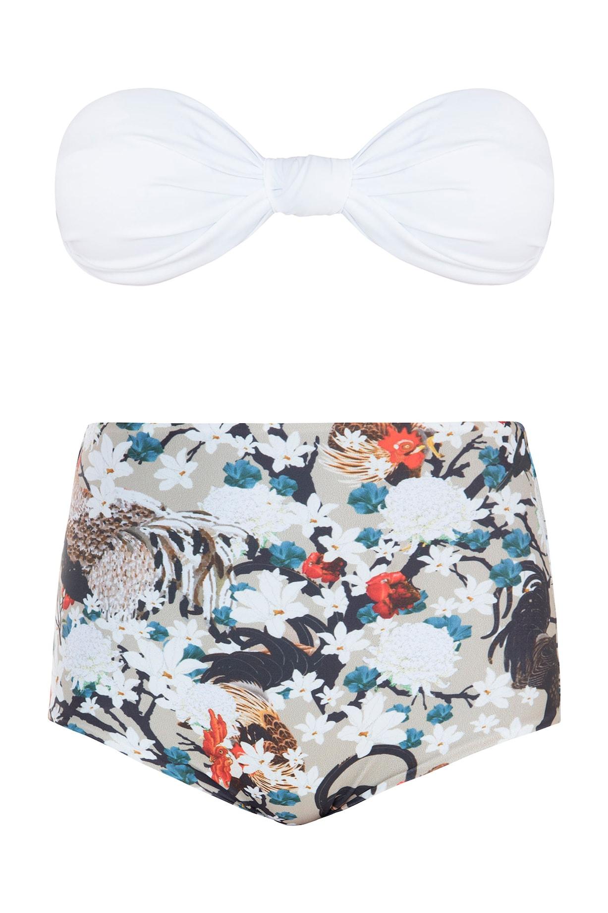 519e541131 Multicolour praslin knotted bikini set Design by Shivan   Narresh at ...