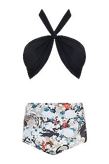 Black praslin halter bikini set