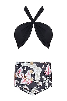 Black eden noir halter bikini set