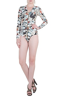 Multicolour praslin full sleeves trikini by Shivan & Narresh