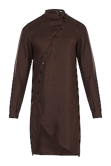 Dark brown kurta