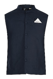 Navy blue waistcoat by Son Of A Noble SNOB