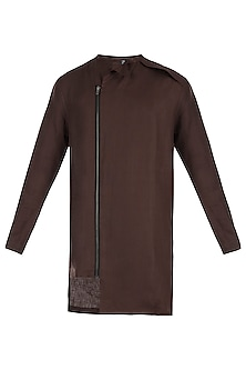Dark brown shacket