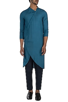Moroccan blue kurta with pants by Son Of A Noble SNOB
