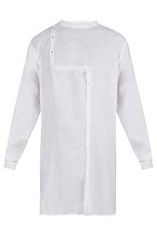 White shift placket kurta