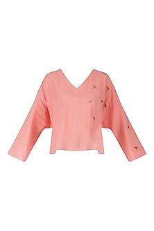 Rose Pink Embroidered Top