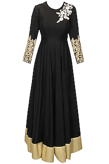 Black Dabka Embroidered Anarkali