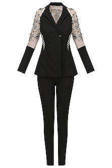 Lycra Blazer-Pant Set