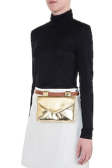 Gold metallic envelope ket bag