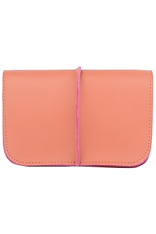 Tan and purple two toned ket bag by SOLE STORIES