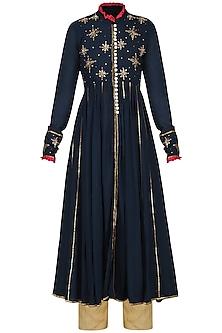 Blue Kalidaar Embroidered Jacket