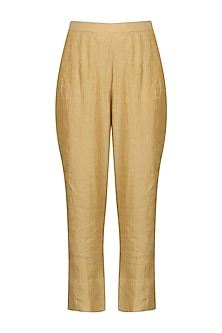Gold Straight Pants