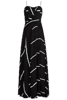Black Tie-Dye Maxi Dress by In my clothes by Shruti S