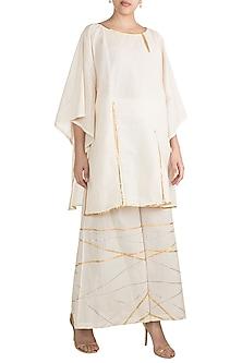 Off White Embroidered Kimono by Gulabo by Abu Sandeep