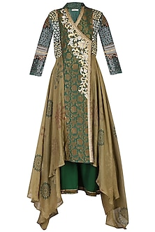 Green Embroidered Kurta Set