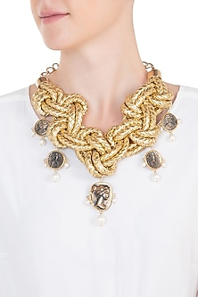 Gold plated coin necklace