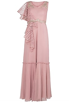 Dusty Pink Embellished One Tier Jumpsuit