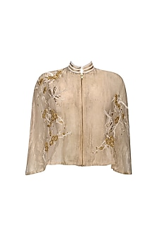 Gold Cherry Blossoms and Dragon Flies Chinese Cape