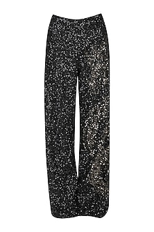 Black sequined pants by Siddartha Tytler