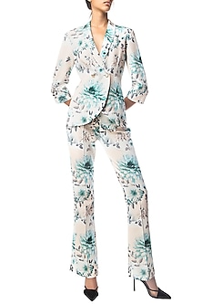 Multi Color Floral Digital Printed Shirt and Wide Leg Pants