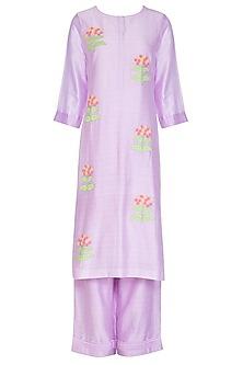 Lavender Embellished Kurta Set  by Surabhi Arya