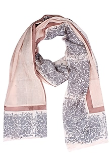 English rose print wool textured scarf by Soutache