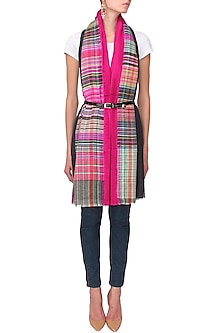 The spice check pleated scarf by Soutache