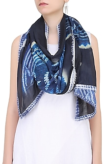 Indigo Tie and Dye Stole