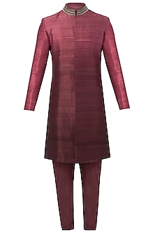 Purple Ombre Sherwani Set