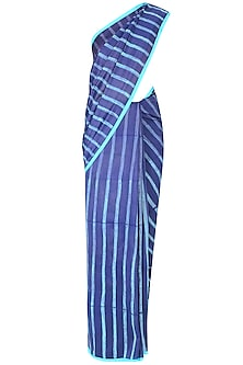 Purple Striped Saree by Swati Vijaivargie