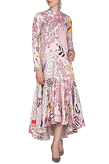 Ivory Jaal Dress by Swati Vijaivargie