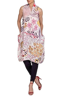 Ivory Jaal Printed Tunic by Swati Vijaivargie