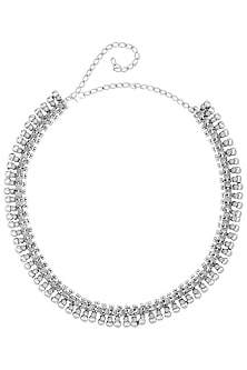 Oxidesed Silver Plated Temple Designed Rope Necklace by Silver Roots