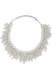 ce2285734a Silver Roots presents Oxidised silver plated ghungroo choker ...