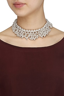Oxidised Silver Plated Ghungroo Choker Necklace by Silver Roots