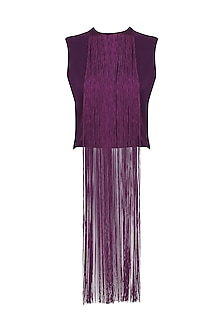 Purple Fringe Crop Top