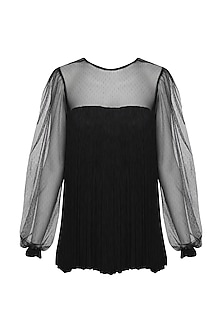 Black Fringes Top by Swatee Singh