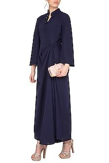 Black Flared Dress by Swati Jain