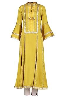 Yellow Gota Patti Embellished Kurta Set