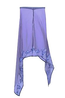 Blue Sequin Embellished Square Kaftan