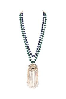 Gold Finish Semi-Precious String Necklace by Tanvi Garg