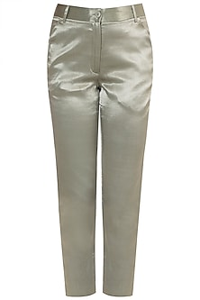 Moss Green Ankle Length Trouser Pants by Tara and I